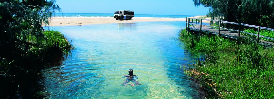 Fraser Island White Sand Beach