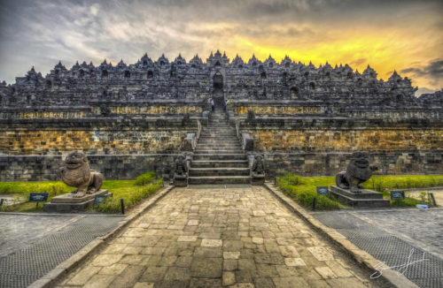 borobudur best sunset