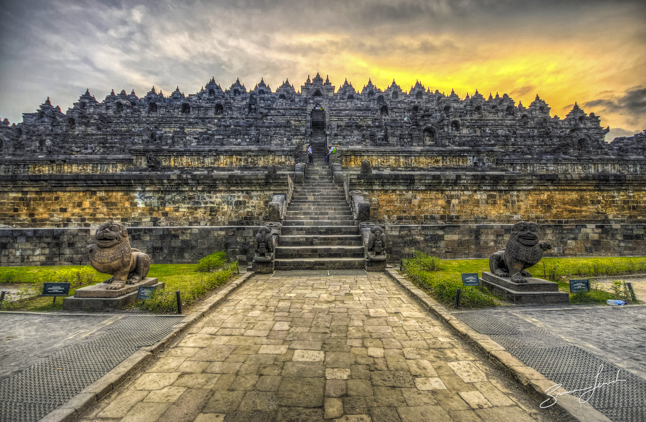 Famous Stairs Borobudur Temple Best Historical Places In Indonesia