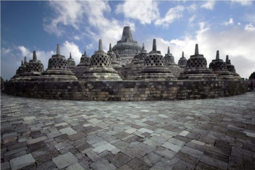 borobudur indonesian beauty