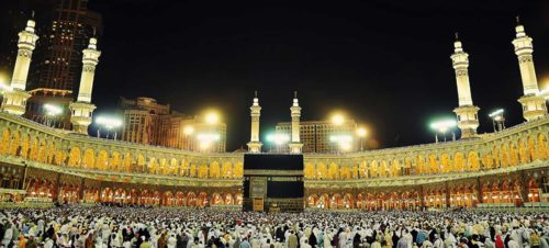 makkah night scenery