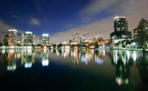 orlando florida night scenery