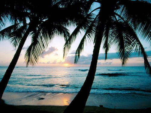 sunset at Barbados Island