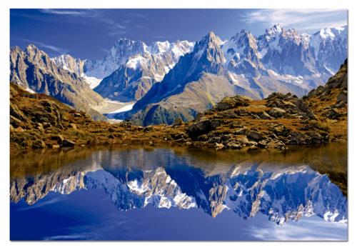 Chamonix Mont Blanc in summer