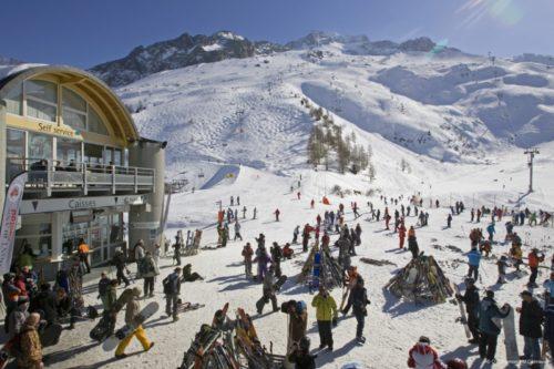 Chamonix Mont Blanc in winter