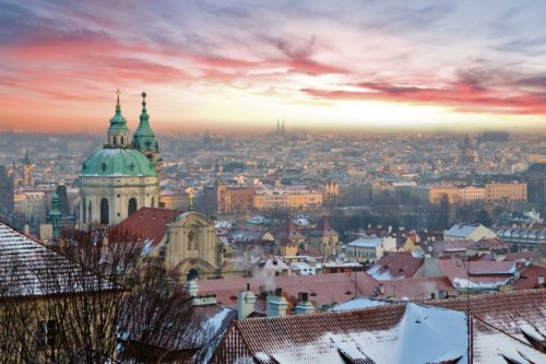 Prague best sunset