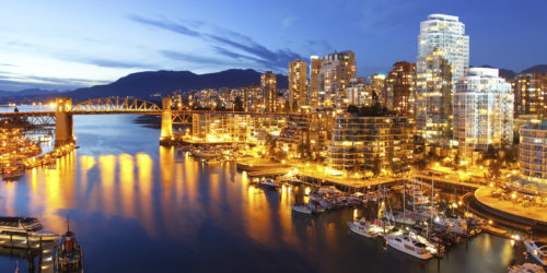 Vancouver in night