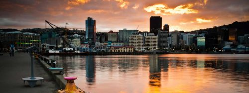 Wellington beautiful sunset