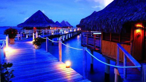 Bora Bora romantic night