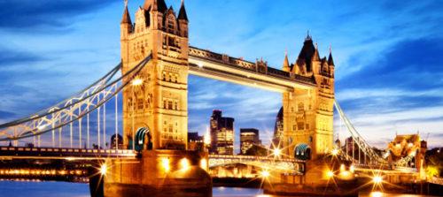London with full light