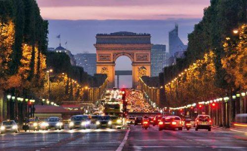 Paris attractive road of city