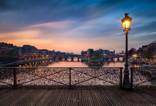Paris romantic lake