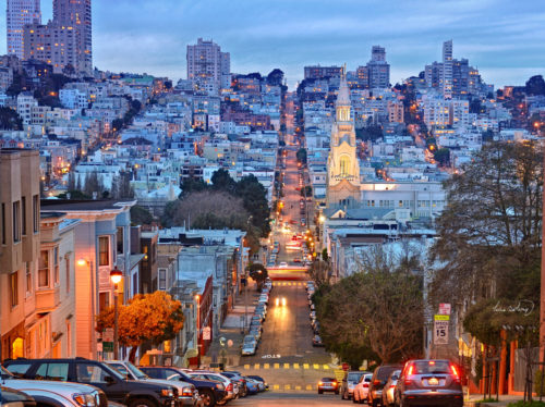 San Francisco scenery at night