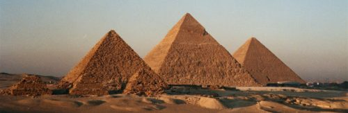 whote Egyptian Pyramids area