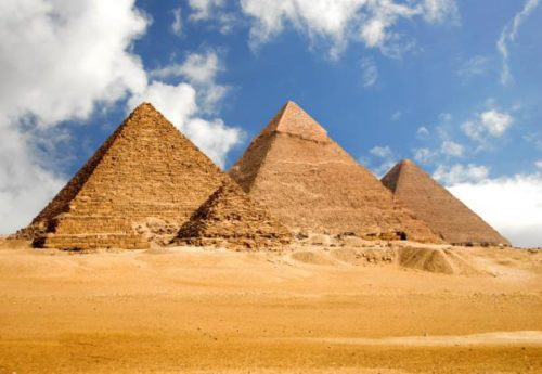 Egyptian Pyramids morning scenery