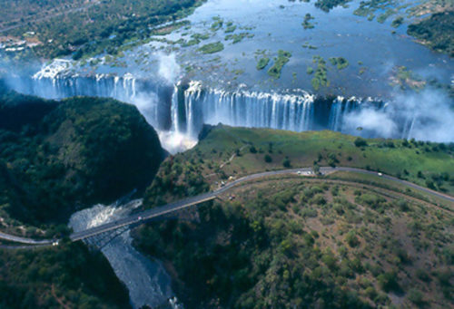 whole area of Victoria Falls