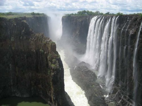 Victoria Falls in morning