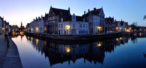 night view at Bruges