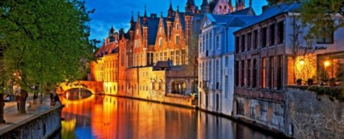 evening scenery of Bruges
