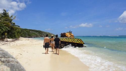 tank at Flamenco Beach