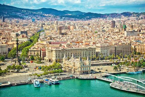 whole scenery of barcelona