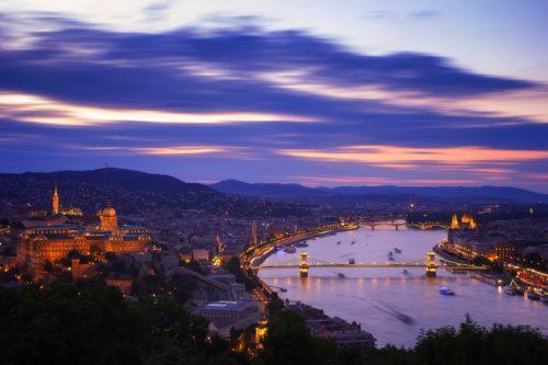 Budapest scenery at night
