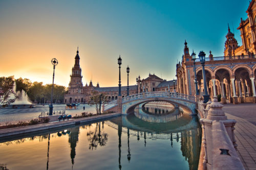 evening scenery at seville
