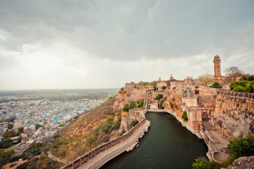 Amazing scenery at Chittorgarh fort