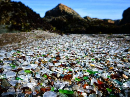 Glass Beach welcome to california