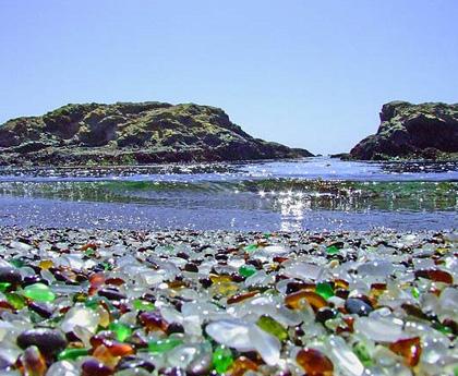 Glass Beach unique holiday destination