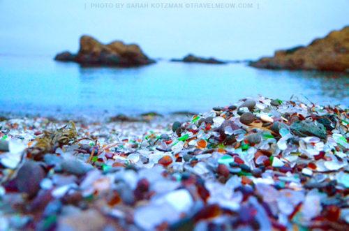 come closer to Glass Beach