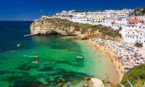 an awesome scenery at algarve portugal