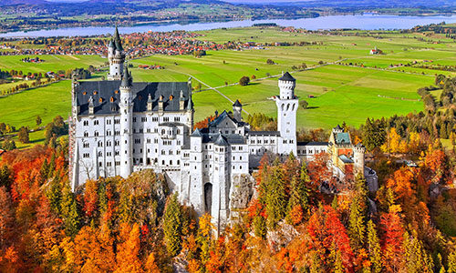 bavaria germany castle view