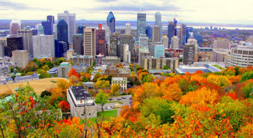 autum at montreal canada