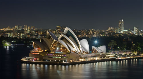 night scenery at Opera House