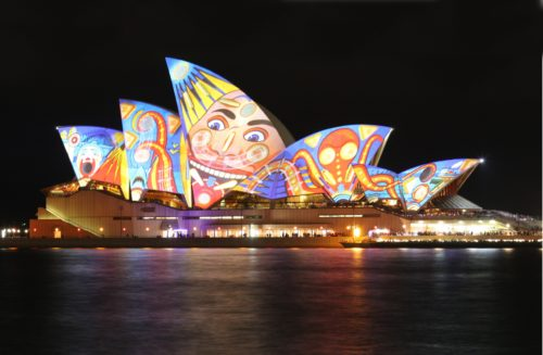 unique lighting at Opera House