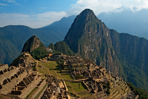 The traditional Machu Picchu view. Peru.