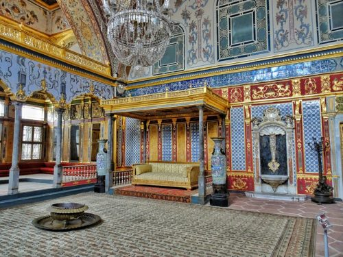 inside the hareem of Topkapi Palace