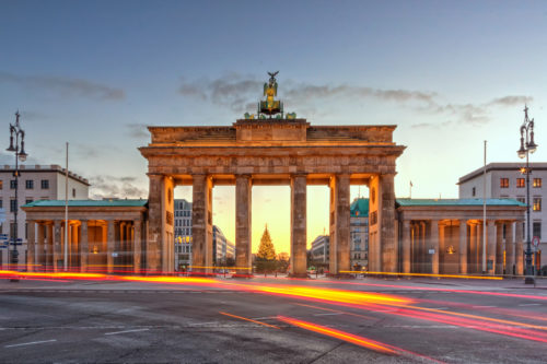 Brandenburg gate west berlin