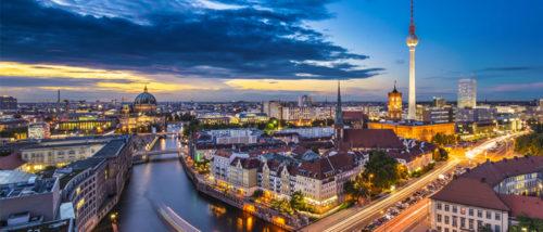Berlin scenery in night