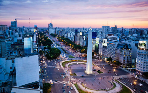 The city center of buenos aires