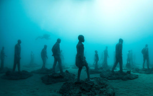 Canary islands under water museum