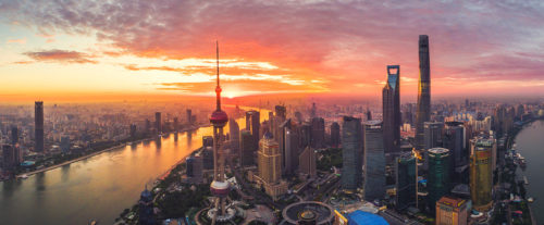 Best sunset in shanghai