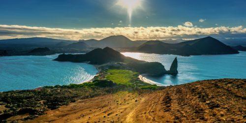 Sunset at galapagos islands