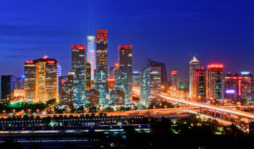 Beijing china in night