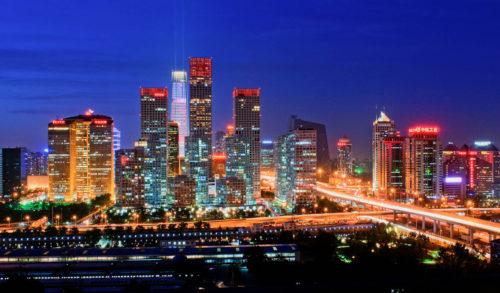Beijing china in night