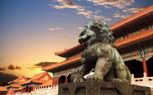 Beijing famous statue