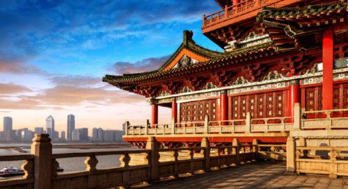 The modern city of beijing