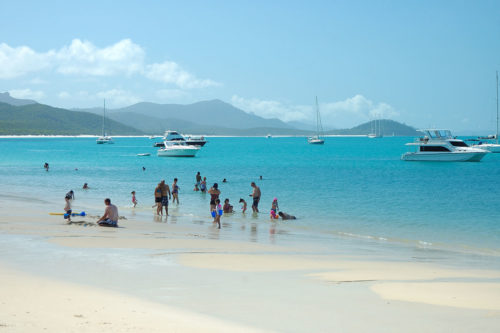 Whitehaven beach visitors