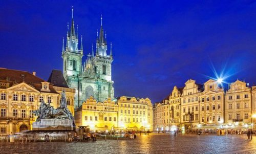 The beauty of prague in night